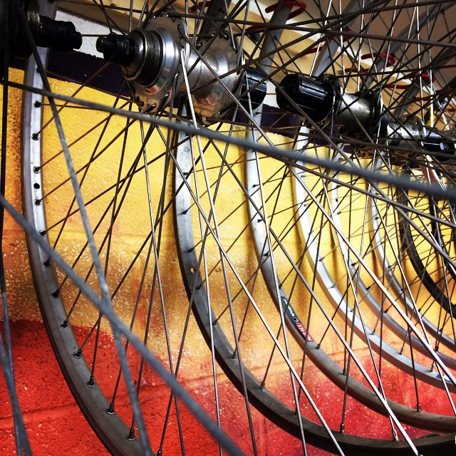 Close up - bike wheels and spokes in the Handlebar #dsonphotos #dsonbikes #dsonsustainability