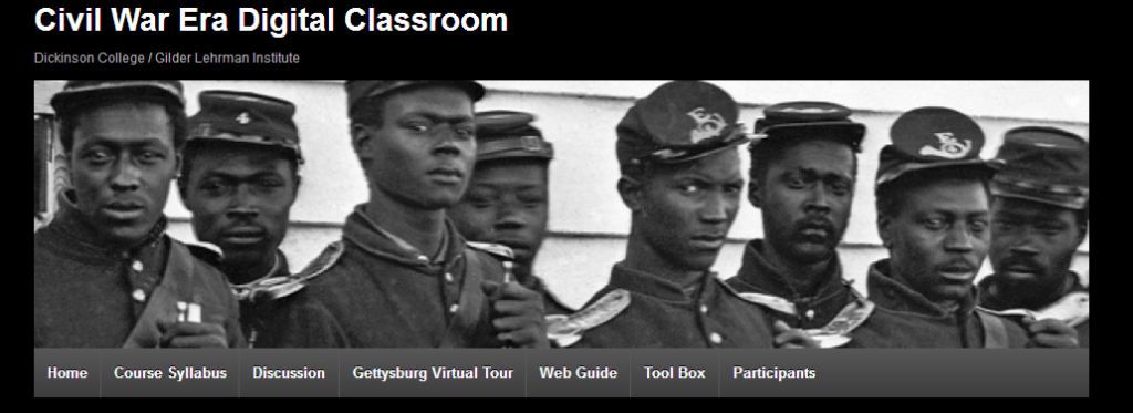 Civil War digital classroom screenshot