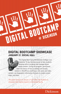 poster advertising digital bootcamp poster session January 27, 2014