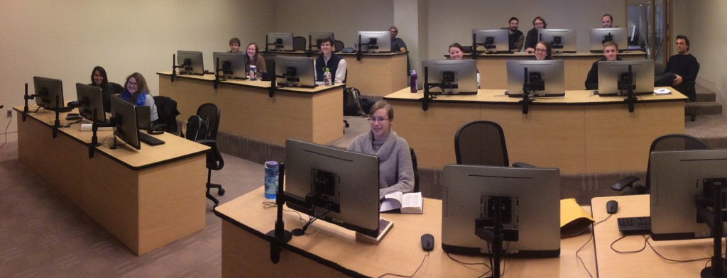 2015 DH Boot Camp participants met in the Waidner-Spahr Library at Dickinson the week of January 12, 2015