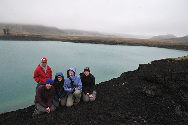 Team DC + 1 at Graenvatn examining gabbro xenoliths.