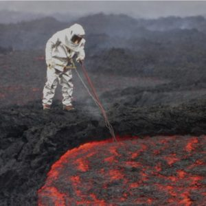 Taking the temperature of 2013 Tolbachik lava flow