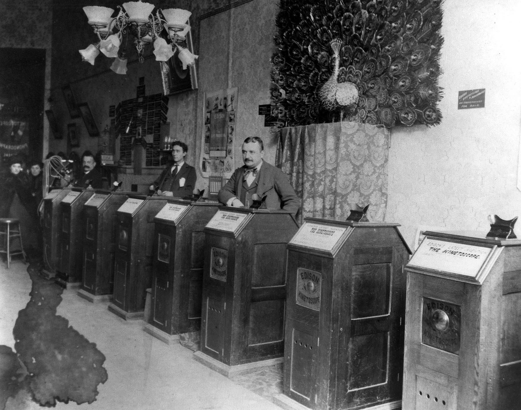 Kinetoscope parlor. Photo Courtesy from the American Society of Cinematographers. https://theasc.com/asc/asc-museum-kinetoscope