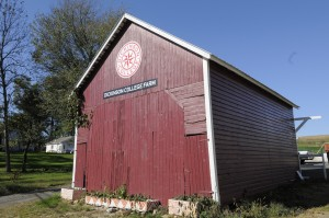Corn crib at Dickinson Farm.