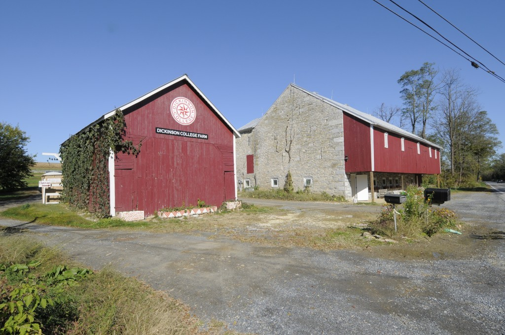 Farm Entrance: Corn Crib and Lower Barn