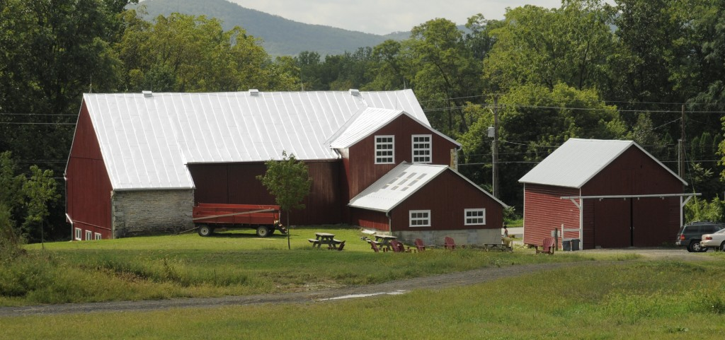 Lower Barn and Corn Crib