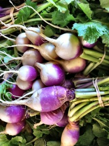 Turnips from Dickinson Farm.