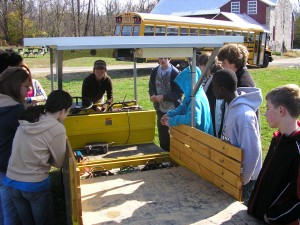 Students learn about the Solar Wheeler.