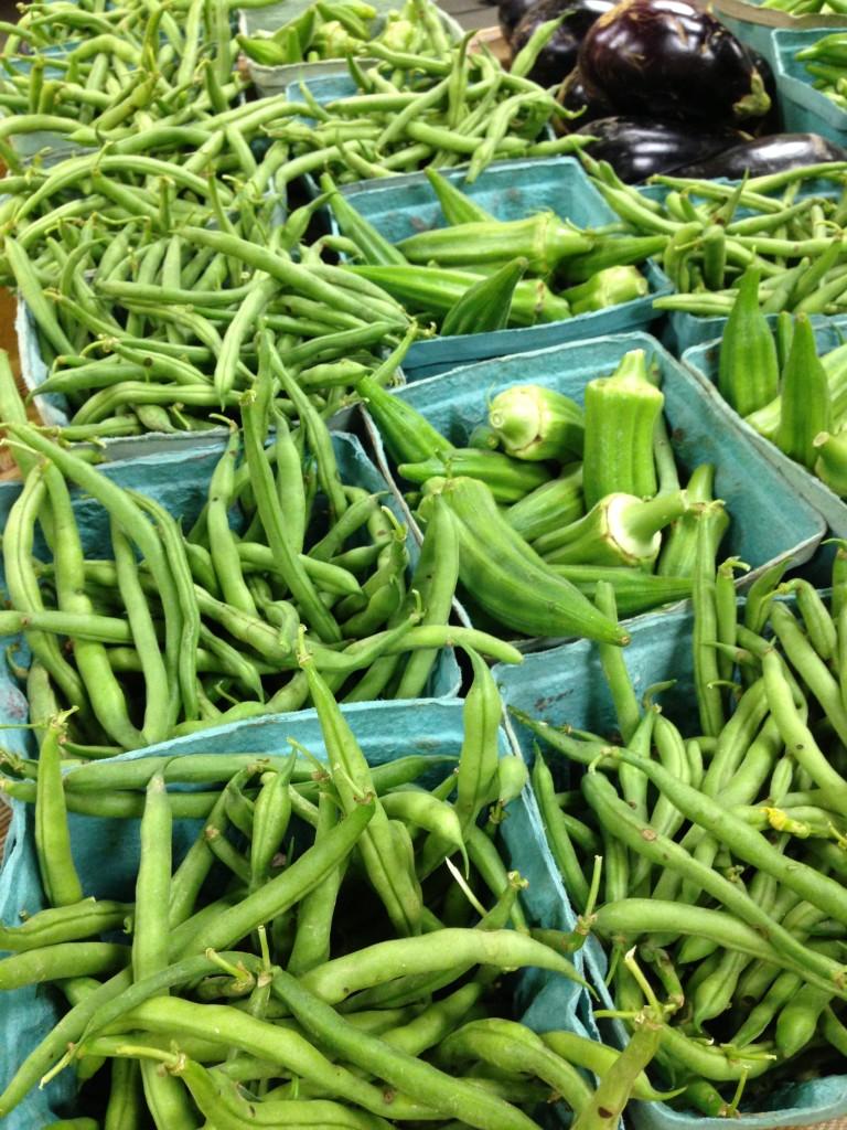 beans, okra, eggplant CSA pickup