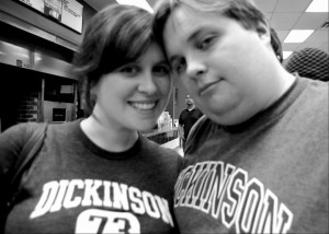 Jillian Roberts and her husband, both class of '08 at Dickinson.
