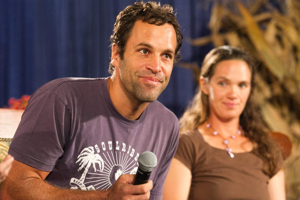 Farm Aid 2012 Press Conference: Jack Johnson addresses the crowd.