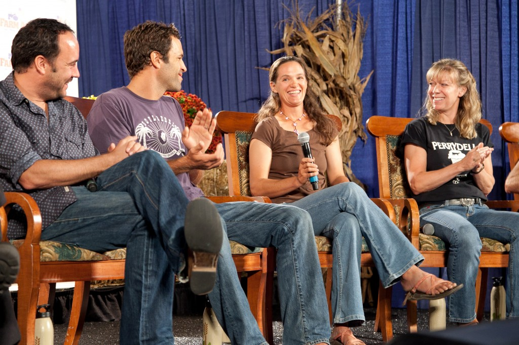 Farm Aid 2012 Press Conference: Dave Matthews, Jack Johnson, Jenn Halpin (Dickinson College Farm) and Donna Perry (Perrydell Family Farm)