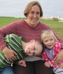 Michelle Elston and family cropped