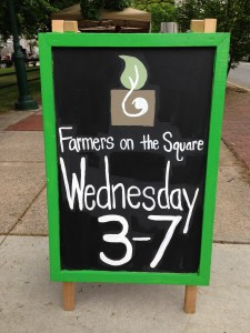 Farmers on the Square FOTS sign