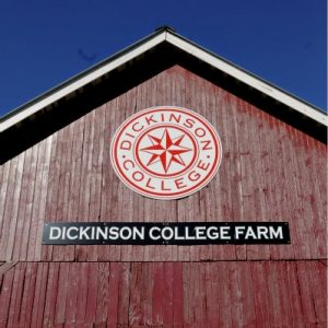 Dickinson barn with logo