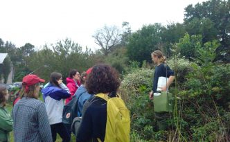 Edward leading a foraging walk with Dickinson students