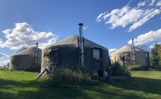 the yurts that the apprentices live in