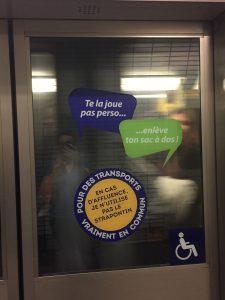"""Dans le métro de Toulouse : """"enlève ton sac à dos!"""""""