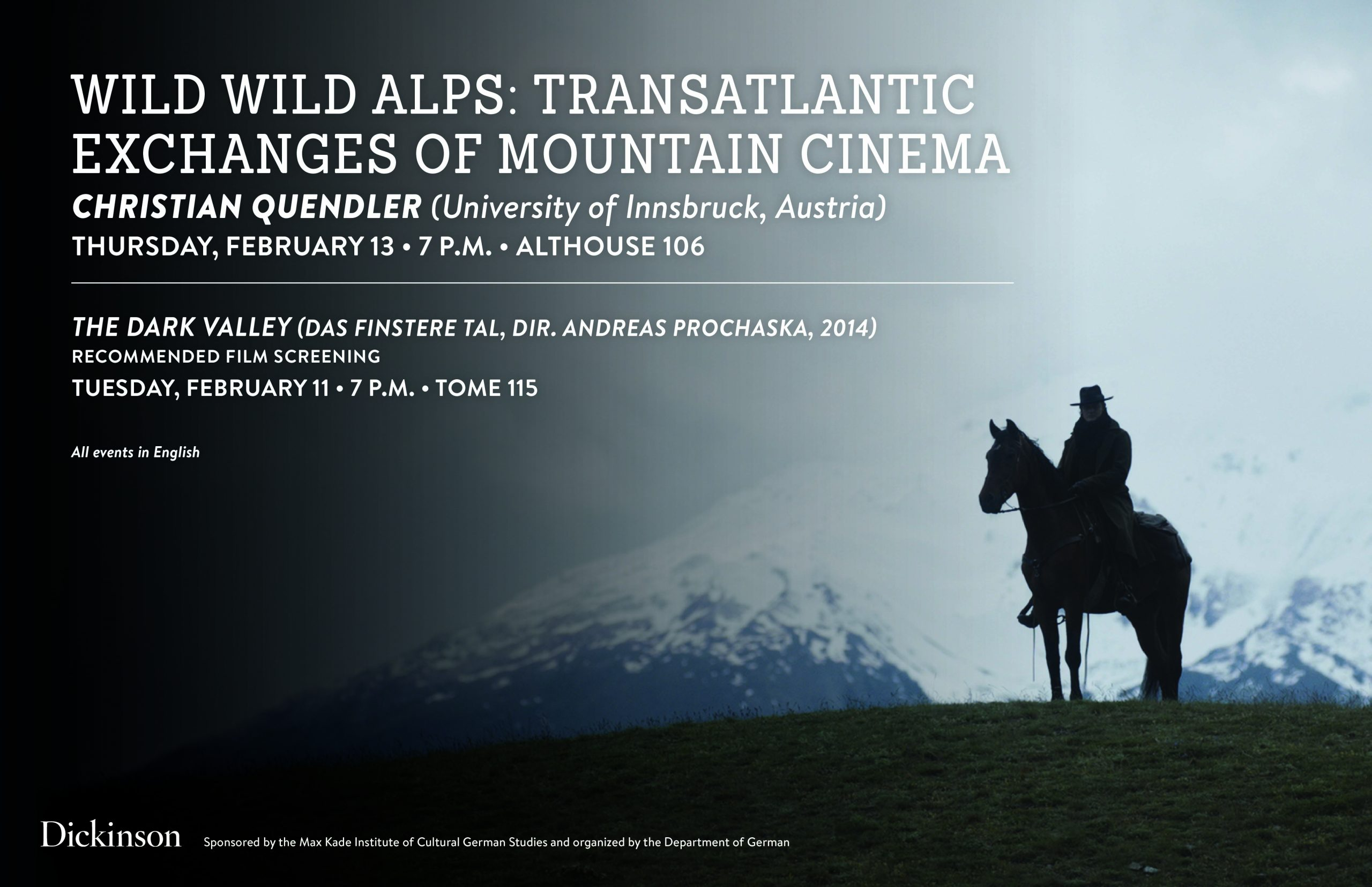 image of horseman in the Alps