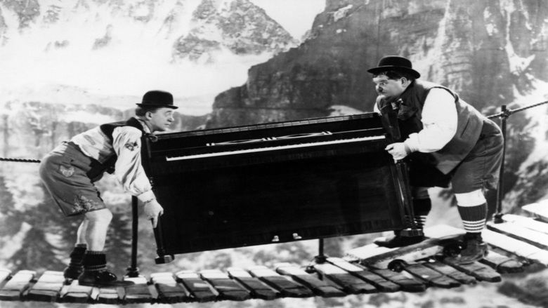Laurel and Hardy with Piano