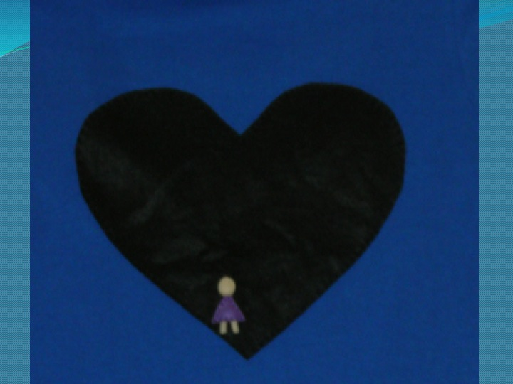 Black Heart with Little Purple Girl