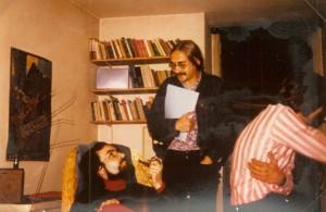 Martin, Herbert und Thomas in Martins Wohnung in Heidelberg