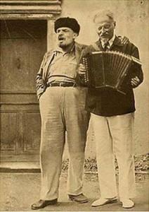 Lenin und Trotzki als Musikanten