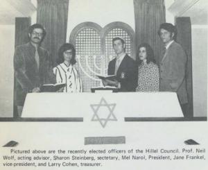 Hillel Council, September 1970