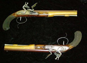 Dueling pistols of Burr and Hamilton (Courtesy of NY Historical Society)