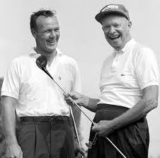 Arnold Palmer (left) and President Eisenhower