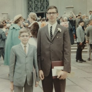 John Ferry (Left) with his brother Paul Ferry, at Paul's graduation from Girard in 1965.