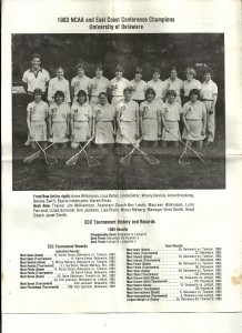 Bev Bruce and the team she coached, 1983.