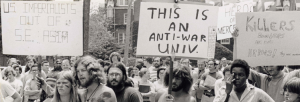 Example of antiwar movements across the nation's universities