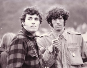 Dr. Kurland and a fellow medical student at rally in Golden Gate Park on January 14th, 1967.