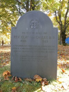 Clay MacCauley's grave. Image courtesy of Ancestry.com.