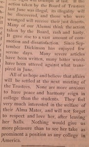 The January 1875 edition of The Dickinsonian. Courtesy of the Dickinson Archives.