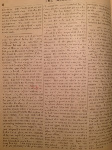 an article in the October 1874 edition of the Dickinsonian, describing the Trickett/Fisher lawsuit. Courtesy of the Dickinson Archives.