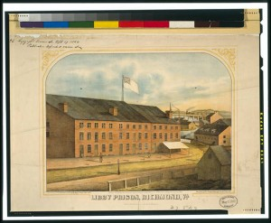 Print of Libby Prison Courtesy of the Library of Congress