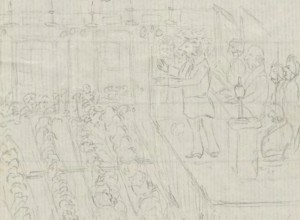 A doodle from Dickinson, 1852 (Archives)