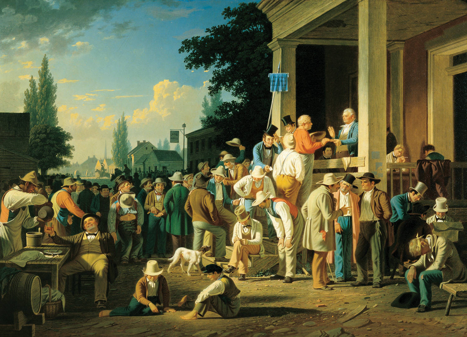 "George Caleb Bingham, ""County Election"" (1852) --Courtesy of St. Louis Museum of Art"