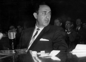 Dr. Irving Peress at a Senate subcommittee hearing in 1954. (Image Courtesy of The New York Times)