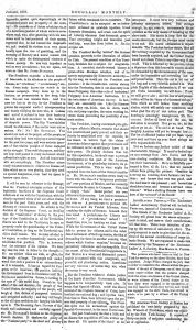 Screen capture of Douglass' Monthly's commentary on President James Buchanan's 1858 State of the Union Address