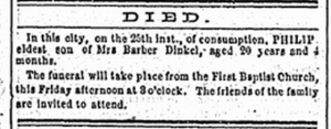 Dinkel death notice