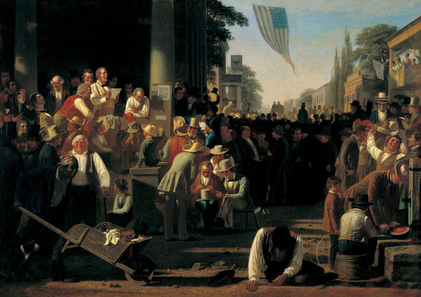 "Bingham, ""The Verdict of the People"" (1855)"