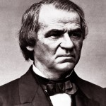 President Andrew Johnson: Anthony was fired from his post as Leavenworth Postmaster by Johnson in 1866 for disagreeing and refusing to support Johnson's reconstruction policies. (Image courtesy, House Divided Project)