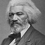 Frederick Douglass: D.R. Anthony med Douglass through Daniel Anthony Sr., who made his home open to abolitionists like Douglass and William Lloyd Garrison.  (Image courtesy of House Divided)
