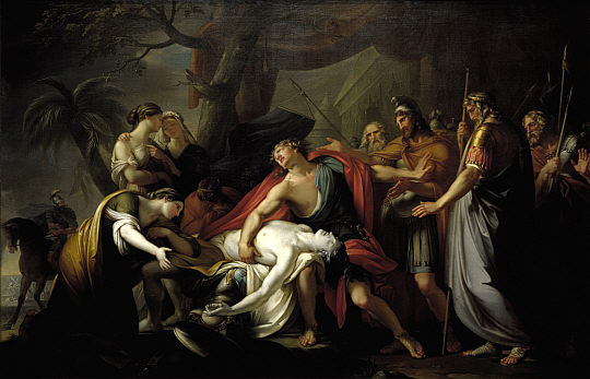 "Gavin Hamilton, ""Achilles Lamenting the Death of Patroclus,"" 1760 - 1763. National Galleries Scotland"