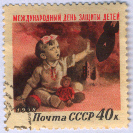 http://commons.wikimedia.org/wiki/File:International_Chidren%27s_Day_USSR_stamp.png