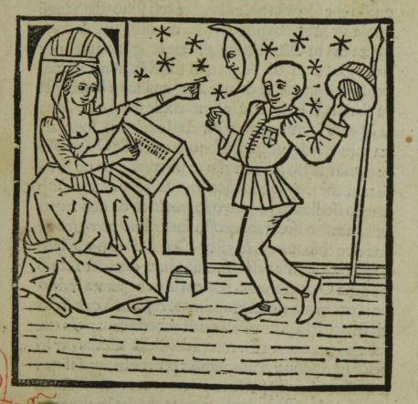 Woodcut from the Italian translation of the Heroides published by Sixtus Riessinger (Naples, 1474)