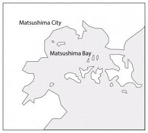 Map of Matsushima bay.
